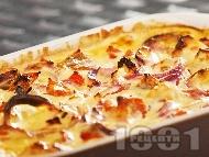 Рецепта Печено пилешко филе с печени червени чушки на фурна